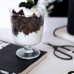 vegan chai black rice pudding