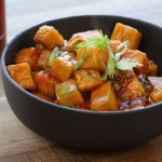 General Tso's Tofu: recipe and photo by The Buddhist Chef